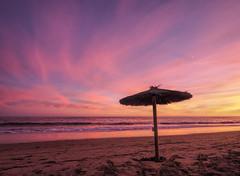 Iberian sunset (grbush) Tags: sunset sun summer travel beach coast coastline seascape sea seaside shelter redsky water ocean spain islantilla dusk olympusm918mm em10mark11 m43 olympus clouds