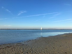 Sailing On Chichester Harbour (Marc Sayce) Tags: sailing chichester harbour blue sky sand beach west wittering sussex autumn october 2018