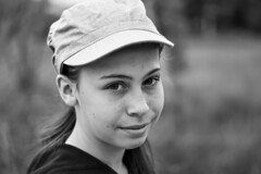 portrait teenager (nicolas-7878) Tags: daughter she teenager girl face portrait light pose nikon d5500 casquette extèrieur people children young noirblanc white blackwhite bw nb visage yeux eyes