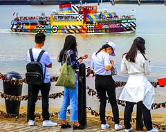 BRYAN_20180718_IMG_9247 (stephenbryan825) Tags: albertdock chineseboy chinesegirl individuals liverpool merseyside rivermersey royalalbertdock ferry people selects tourists vessels water