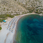 Aerial Nikolaos Beach Hydra, Greece thumbnail