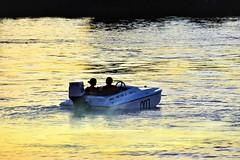 Late day launch (thomasgorman1) Tags: sunset couple people man woman boating shore riverside colorado az arizona nikon
