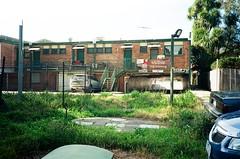 Back of building (Matthew Paul Argall) Tags: canonsnappy20 fixedfocus 35mmfilm kodakultramax400 kodak400 400isofilm ultramax building architecture