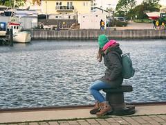Fehmarn - Schleswig-Holstein - Germany (torstenbehrens) Tags: olympus penf m45mm f18 fehmarn schleswigholstein germany wharf dock pier mooring wharvesaroundtheworld boat vessel water bollard