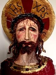 """Cristo (FE"""") Tags: vita morte passione dolore lacrime sangue spine coloriacrilici cartapesta"""