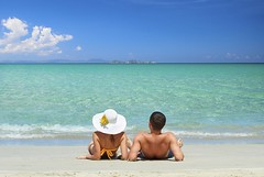 Online Travel concierges to fulfill your most outrageous dreams (clayplaytravel) Tags: beach couple honeymoon tropical holiday summer vacation sea woman nature man sand romance love family happiness leisure together sky water ocean travel two young happy romantic people relax relaxation sitting outdoor island