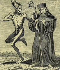 This image is taken from La danse des morts : gravee d'apres les tableux a fresque qui se trouvaient sur le mur du cimetiere de l'eglise St. Jean a Bale = The Dance of Death : engraved from the fresco-paintings on the cemetery wall of St John's church at (Medical Heritage Library, Inc.) Tags: dance death rcplondon ukmhl medicalheritagelibrary europeanlibraries date1858 idb22650568