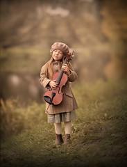 Music.. (olgafler) Tags: violin girl music inspiration greydress
