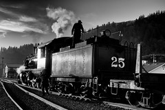 Heading out of Garibaldi (Rob Mesite) Tags: steam train oregoncoastscenic