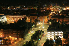 Looking West From The Sky Bar At The Radisson Blu Hotel Riga 1 October 2018 (The McCorristons) Tags: latvia riga october 2018 old town oldtown skybar radissonblu raddison blu night nightshot