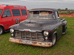340 XUK  1956  Chevrolet 3100  Pick Up Truck (wheelsnwings2007/Mike) Tags: 340 xuk 1956 chevrolet 3100 pick up truck american auto club north west october meet barton airfield
