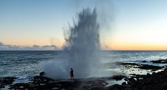 Spouting Horn at sunset (dcjohnson50) Tags: canon canon5dmarkiii markiii 5d canon1635 beautiful pacificocean sunset naturalbeauty seascape poipu beach poipubeach kauai koloa spouting horn