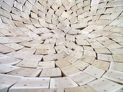 Art Installation, Toronto, Ontario (duaneschermerhorn) Tags: art installation publicart interior artwork blocks wood pattern paved