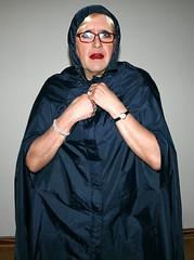Rainmac Nylon Cape (Miss Pakamac) Tags: nylonmac nylonrainwear nylonraincoat nylon rainwear raincoat spinster aunty auntie mature granny grandma