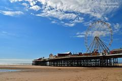 Central pier (Sportybeach Photography (Jonnywalker)) Tags: blackpool lancashire seafront seaside coast sea sky pier bluesky northwest promenade beach holiday shore centralpier sand