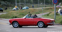 Fiat 124 Spider 1976 (XBXG) Tags: gtdh64 fiat 124 spider 1976 fiat124spider red rood rouge cabriolet cabrio convertible roadster tourer pininfarina pinin farina burgemeester van alphenstraat zandvoort nederland holland netherlands paysbas vintage old classic italian car auto automobile voiture ancienne italienne italie italia italy vehicle outdoor