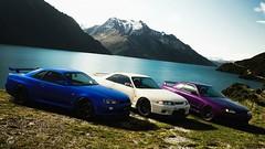 Nissan trinity (m i n i t e k) Tags: nissan gtr r32 r33 r34 skyline mountain landscape car japan gran turismo sport