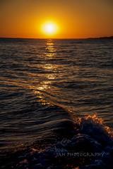 Light Seasnake (jah32) Tags: portbruce ontario canada beach beaches water lakeerie lake lakes greatlakes thegreatlakes waves evening eveninglight sunset sun sunsets perfectsunsetssunrisesandskys