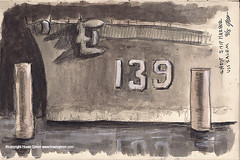 Ghost Ship Harbor spooky ship (Howie Green) Tags: ghost ship harbor haunted house uss salem sketches plein air painting life drawing