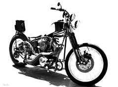 kustom kite... (Stu Bo) Tags: motorcycle highkey kustom ride rebel sbimageworks blackandwhite beautiful bw monotone sexonwheels
