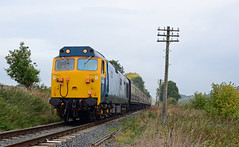 """50035 """"Ark Royal"""". (curly42) Tags: 50035 class50 hoover vac englishelectric arkroyal svr preserveddieselloco class50goldenjubilee 50sat50 railway transport travel locohauled"""