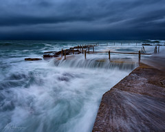 Return to form (AegirPhotography) Tags: sunrise dawn landscape seascape ocean sea water coast clouds sky rocks flow motion avalon pool beach sydney australia