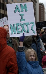 Her Question (Scott 97006) Tags: protest march kid girl sign