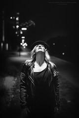 Film Noir XXVII (Passie13(Ines van Megen-Thijssen)) Tags: kiki filmnoir portrait portret canon sigma35mmart netherlands weert night nightscape blackandwhite bw sw zw zwartwit monochroom monochrome monochrom inesvanmegen inesvanmegenthijssen
