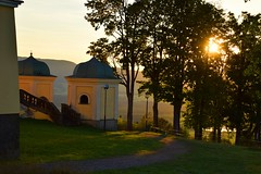 summer moods (JoannaRB2009) Tags: králíky czechrepublic summer mood monastery cloister tree trees sun sunset building architecture path landscape view nature green alley avenue