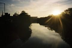 Morning commute river (knautia) Tags: gaolferrybridge riveravon commute bristol england uk october 2018 film ishootfilm olympus xa2 olympusxa2 kodak ektar 100iso nxa2roll82 commuting bridge footbridge reflection