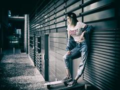 Current mood (Pawel Wietecha) Tags: mood girl woman lady model studio light new art emotions portrait eyes look face hair pretty beauty glamour people makeup style dark pawel wietecha femme fille dame beauté belleza dama niña bellezza signora ragazza belle sexy outdoor street skateboard skate skater fashion cap