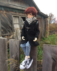 Little Monica Doll (Mimo_Marina) Tags: полиуретан шарнирнаякукла шарнирная bjd bjdboy bjddoll boy umbrella littlemonica littlesophia littleprince clothers doll осень золотая