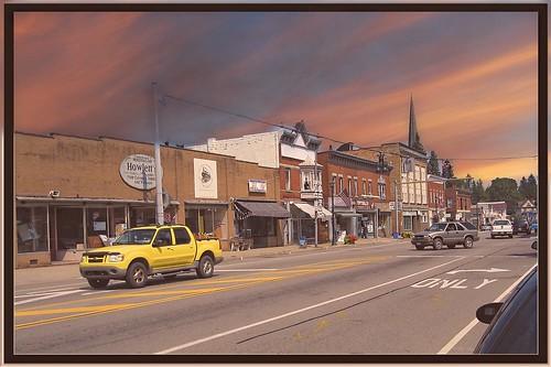 Arcade New York - Main Street Town - United States -- Historic Village - Sunset