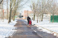 Mile End Park 2018 (towerhamletscouncil) Tags: mile end park winter snow buggie parent walker