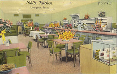 White Kitchen 1949 (Brett Streutker) Tags: restaurant cafe diner eatery food hamburger cheeseburger eat fast macdonalds burger vintage colonel sanders kentucky fried chicken big mac boy french fries pizza ice cream server tip money cash out dining cafeteria court table coffee tea serving steak shake malt pork fresh served desert pie cake spoon fork plate cup drive through car stand hot dog mustard ketchup mayo bun bread counter soda jerk owner dine carry deliver