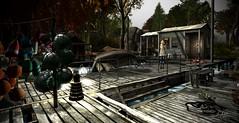Walking along docks - The Four Villages (☀Vita Camino☀) Tags: sl four villages rent sim vita camino best