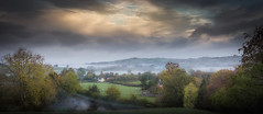Misty morning (paullangton) Tags: brecon wales misty autumn green trees sky clouds water landscape canon fields blue nature valley mountain colour