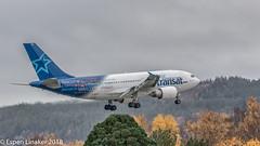 C-GLAT Air Transat Airbus A310-308- 588 (Otertryne2010) Tags: 2018 2k18 enva norge norway trd trondheim værnes air transat airbus a310308 short final trident juncture