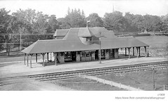 1909 D&H station Slingerlands (albany group archive) Tags: albany history ny 1909 dh station slingerlands railroad early 1900s bethlehem old vintage historic historical photo photograph pictures