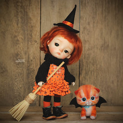 Wicked cute (Passion for Blythe) Tags: witch cute tiny halloween secretdoll secretdollming ming