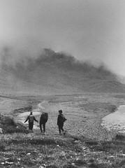 Pure souls (schmaeit) Tags: landschaft 35mm naturephotography dusk herbst mist countryside outside fog mystik analog blackandwhite bw autumn people mountain switzwerlamd yashica