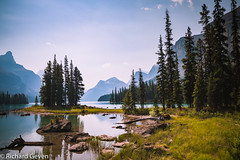 Maglane lake Canada-2 (Richard Geven) Tags: canada lake water purple blue mountains layers joy clear sky freedom beaty nature alone wonder wonderfull huge secret secretisland indians amazing