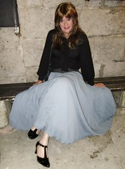 Later That Evening (Amber :-)) Tags: long grey sunray pleated skirt tgirl transvestite crossdressing