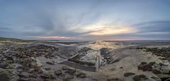 Punt van Reide - Zonsopkomst (nsiepelbakker) Tags: outdoor seascape sunrise lowtide blue stones omdem1markii samyang75mm panorama
