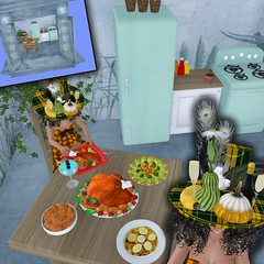 The Happy Hat - Holiday  Feast Hunt 2 - Gifts (Rah Rehula) Tags: secondlife sl silly seondlife hat hunts hats food
