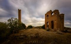 recordando (jotagaley) Tags: cloudy ruins minas abandonadas landscape paisaje puestadesol sunset