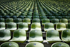 Where To Sit? (Sean Batten) Tags: munich bavaria germany de green seats nikon d800 35mm city urban olympiastadion olympics numbers