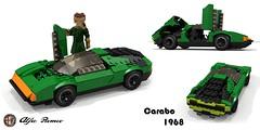 Alfa Romeo Carabo Concept 1968 (lego911) Tags: alfa romeo 33 carabo concept bertone 1968 1960s classic wedge v8 italy italian auto car moc model miniland lego lego911 ldd render cad povray afol