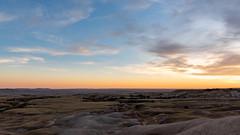Badlands Sage Creek Sunset ((JAndersen)) Tags: badlands badlandsnationalpark sagecreek southdakota usa landscape sunset sky clouds hills nikon d810 nikkor2470mmf28ged