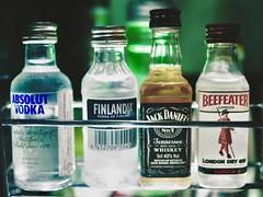The minibar (max832) Tags: backlight vodka 25mm18 markiii em10 omd olympus bleachbypass artfilter minibar bottiglie bottles wiskey alcohol bottle